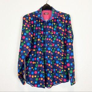 Spazio UOMO Designer Multicolor Button Up Medium
